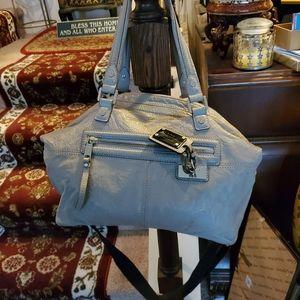 Authentic Leather L.A.M.B Shoulder Handbag